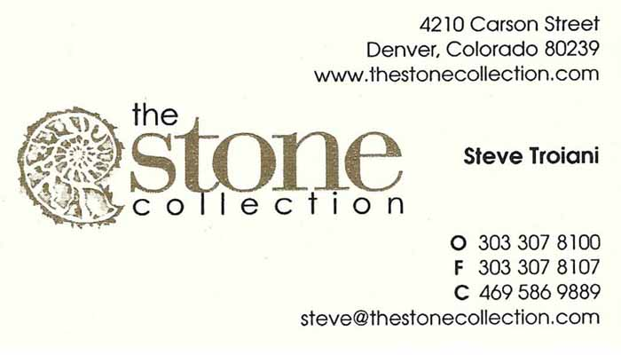 Steve Troiani The Stone Collection