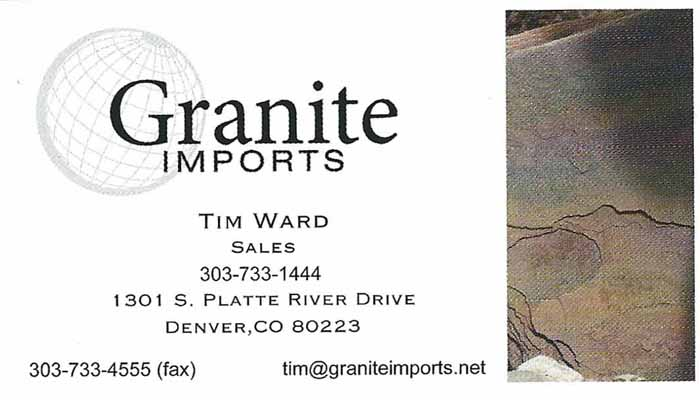 Tim Ward Sales Granite Imports